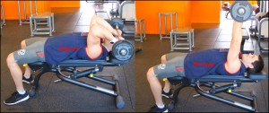 TRICEPS – DEVELOPPE BARRE DROITE ALLONGE